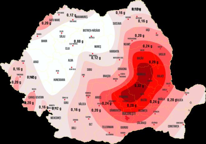 Harta seismică a României