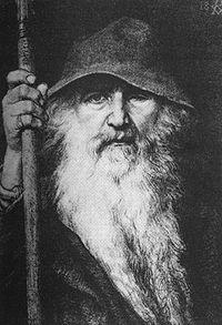 Ilustraţie din 1886 a lui Odin de Georg von Rosen