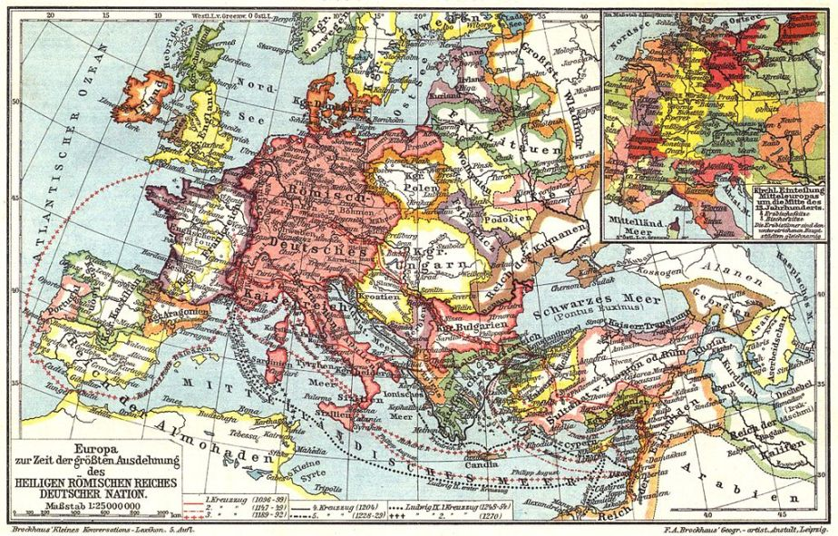 Sf. Imperiu Roman la maxima sa întindere în timpul Cruciadelor