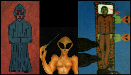 Monk from beyond the moon; Beefcake from beyond the moon; Peter on the thinnest bed ever