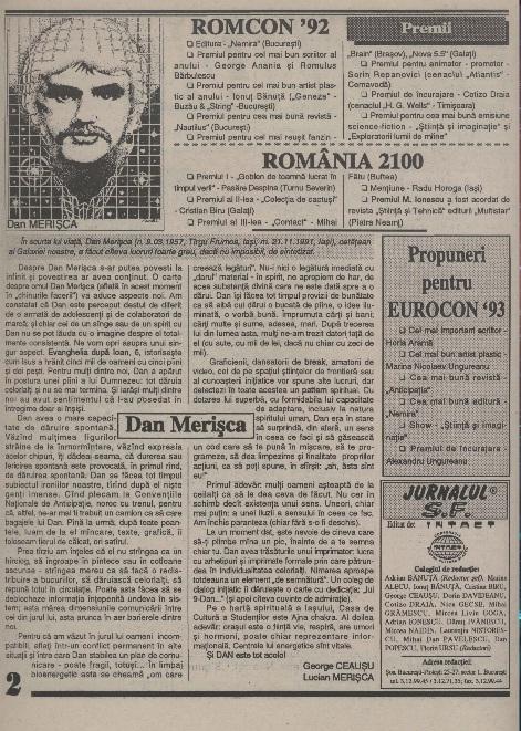 Jurnalul SF - Nr. 1 pp. 2