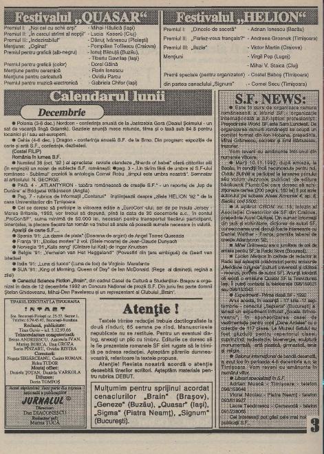 Jurnalul SF - Nr. 1 pp. 3