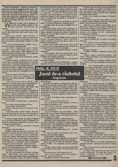 Jurnalul SF - Nr. 1 pp. 5