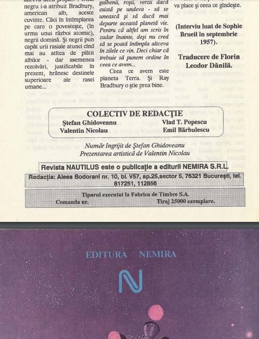 Revista Nautilus 1 92 coperta 4