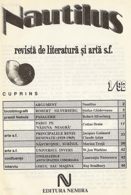 Revista Nautilus 1 92 cuprins